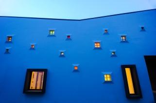 House with colorful lights - Vlad Gaivoronschi - 2013, Timisoara, Romania
