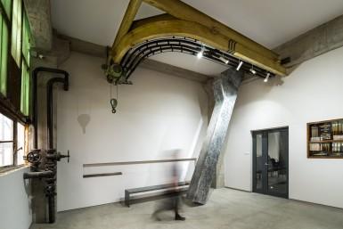 Spațiul de intrare al Fabricii de Pensule, Cluj-Napoca • Architecture: Klara Veer / KVAD architecture & design
